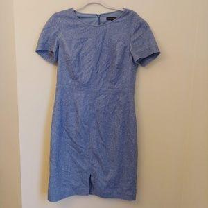 Banana Republic Blue Wool Pencil Dress Size 10